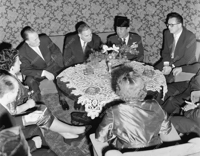 Külpolitika - Szukarno indonéz elnök fogadása