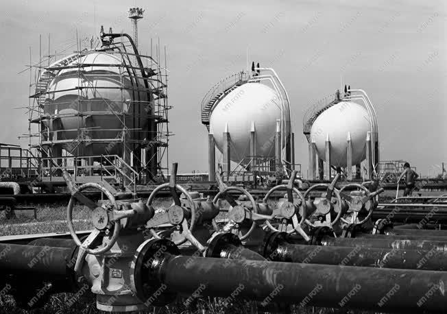Energiaipar - Gázüzem a szegedi olajmezőn