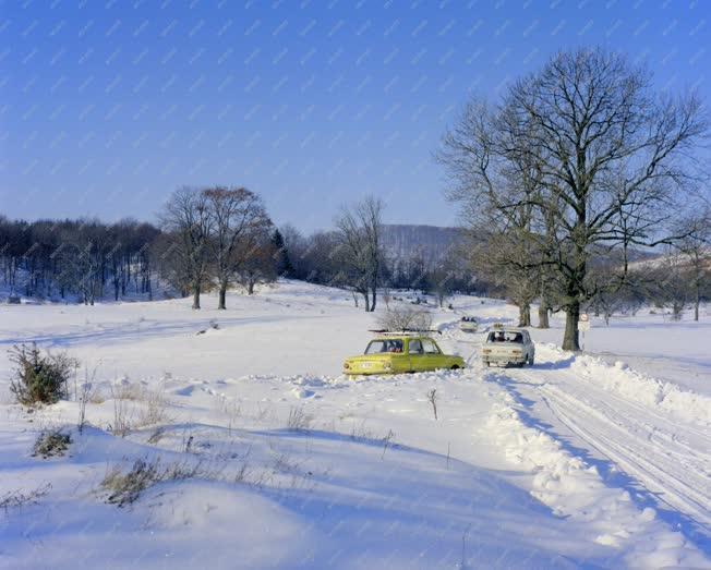 Életkép - Természet - Közlekedés - Tél a Bükkben