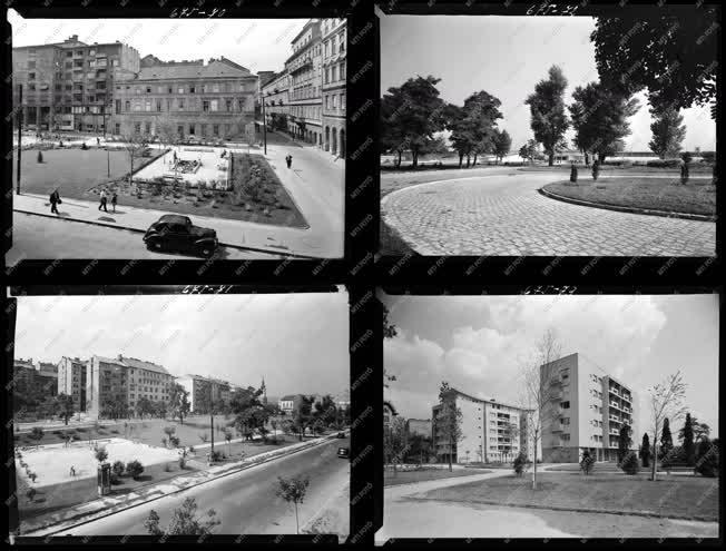 Városkép - Parkok, emeletes házak