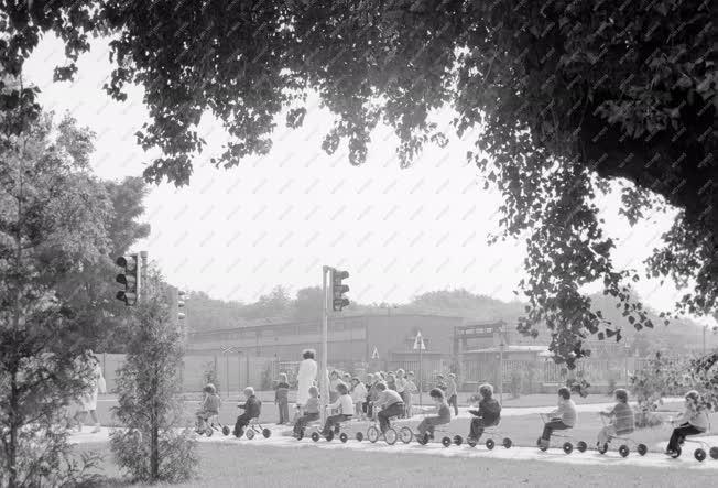Oktatás - Óvodások a KRESZ-parkban
