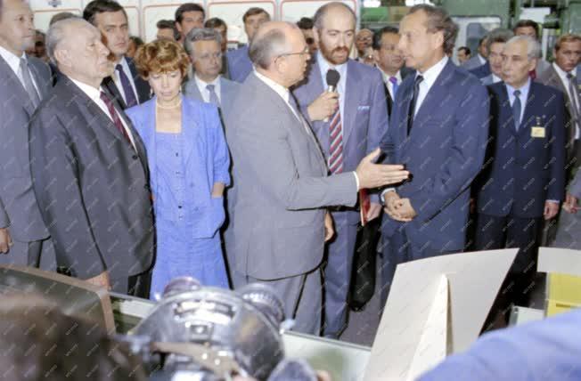 Külkapcsolat - Ipar - Mihail Gorbacsov Csepelen