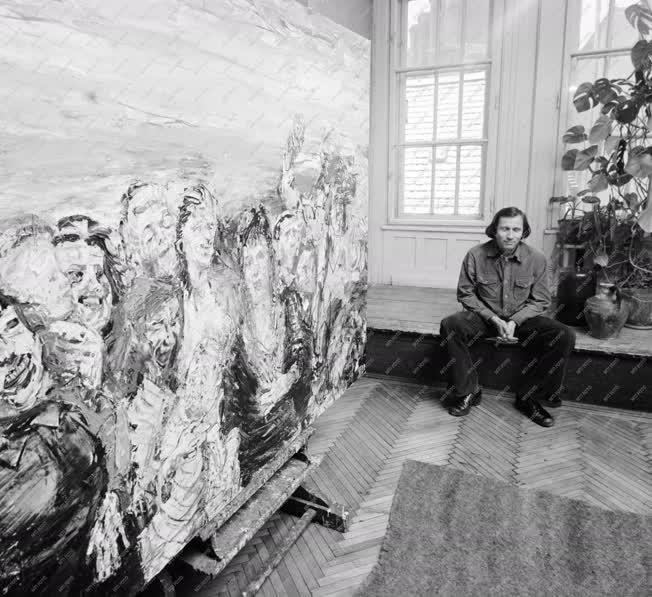 Kultúra - Festészet - Sváby Lajos műtermében