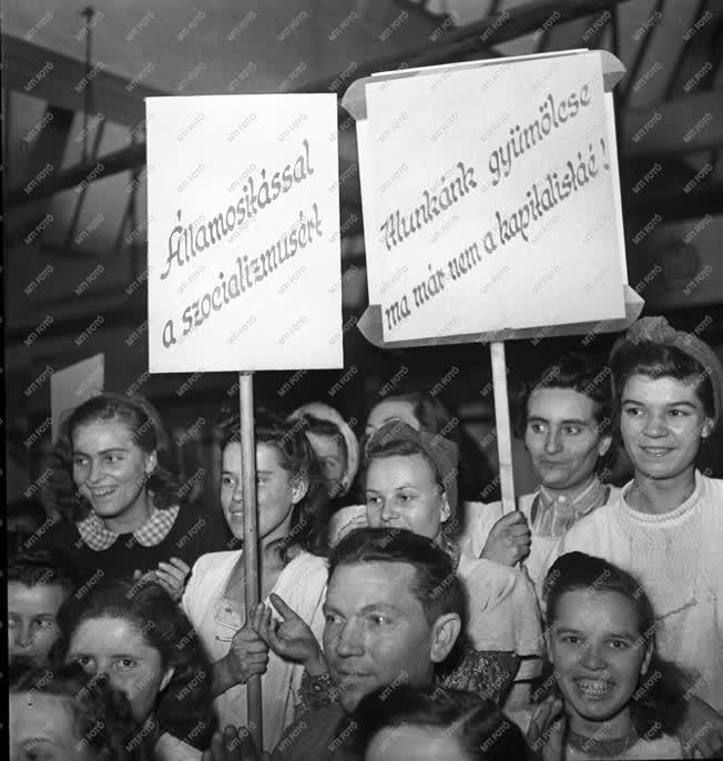 Belpolitika - Az Első Magyar Cérnagyár Rt. államosítás