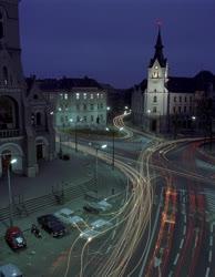 Városkép - Kaposvár esti fényben