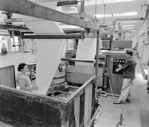 Ipar - Új gépek az újpesti Hazai Pamutszövő Gyárban
