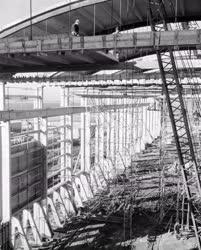 Ipar - Épülő szuperfoszfát üzem a Tiszamenti Vegyiművekben