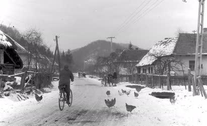 Életkép - Vágáshutai téli életkép