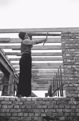 Ipar - Építőipar - Sztahanovista szakmunkás