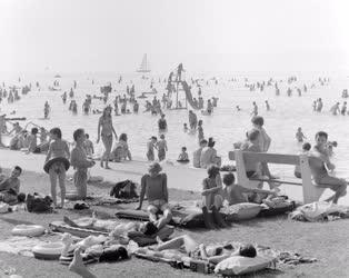 Városkép-életkép - A siófoki strandon