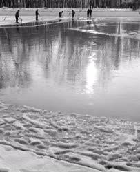 Természet - Környezet - Balaton - Jégvágás
