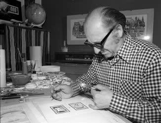 Vertel József grafikusművész, bélyegtervező