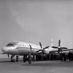 Légiközlekedés - MALÉV - Új IL-18 repülőgép