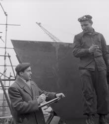 Kultúra - Festészet - Somogyi János a Ganz Hajógyárban