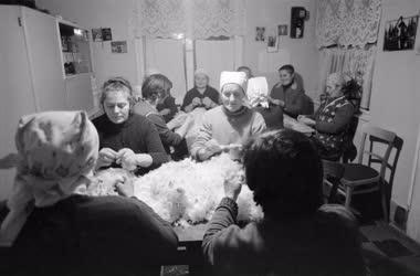 Életkép - Folklór - Hagyomány - Asszonyok a fonóban