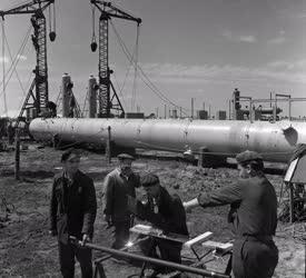 Ipar - Hajdúsági földgázmező - Gazolinleválasztó tornyok