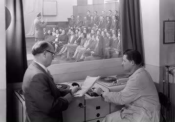 Kultúra - Felvételkészítés a Magyar Hanglemezgyártó Vállalat stúdiójában