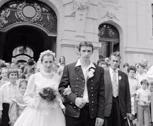 Városkép-életkép - Néptáncos esküvő Szegeden
