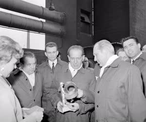 Belpolitika - Fock Jenő látogatása Tatabányán