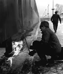 Városkép-életkép - Közlekedés - Tél a Déli pályaudvaron
