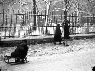 Városkép - Életkép  - Budapest télen