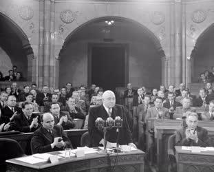 Belpolitika - Rákosi Mátyás az Országgyűlésen