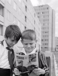 Városkép-életkép - Iskolások az új Ajkán