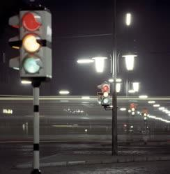 Városkép - Budapest - Forgalomirányító jelzőlámpák