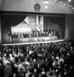 Évforduló - Emlékülés a Magyar Szovjet Társaság 10 éves évfordulóján