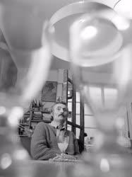 Kultúra - Korga György festőművész műtermében