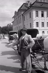 Foglalkozás - Városkép - Konflis és kocsisa