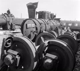Ipar - Közlekedés - A rákosrendezői mozdonytemető