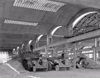 Építőipar - Az alsózsolcai Épületelemgyár építése