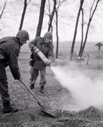 Belpolitika - Honvédelem - Munkásőrök harcászati gyakorlata