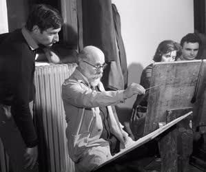 Képzőművészet - Barcsay Jenő oktat a Képzőművészeti Főiskolán