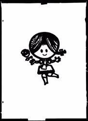 Kultúra - Ibusz baba figurájának rajza - Reprodukció