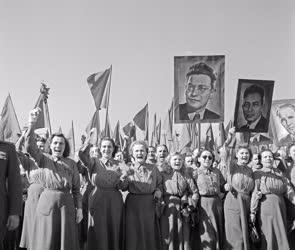 Ünnep - Május elsejei felvonulás Budapesten
