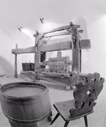 Kultúra - Szőlőprés a Fabrícius-házban
