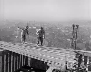 Ipar - Építőipar - Toronyház épül a Józsefvárosban
