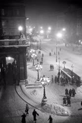 Életkép - Havas este Budapesten