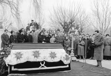 Temetés - Latabár Árpád színművész temetése