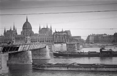 Építőipar - A Kossuth híd építése