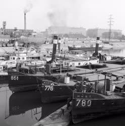 Közlekedés - MAHART hajójavító üzem téli kikötője