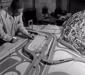 Építészeti tervezés - Az Erzsébet híd lehajtójának makettje
