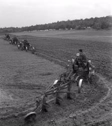 Mezőgazdaság - Szántás, vetés a Petőfi Termelőszövetkezetben