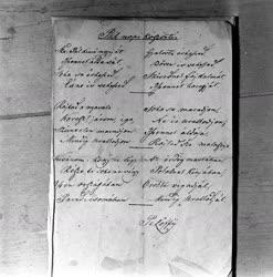 Petőfi kézirat Kisfaludy Stróbl  Zsigmond gyűjteményében