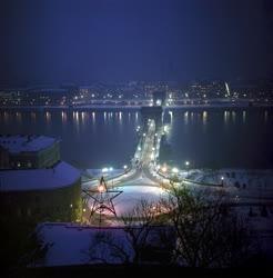 Városkép - Esti téli Budapest