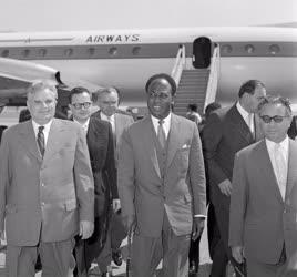 Külkapcsolat - Kwame Nkrumah ghánai elnök Budapesten
