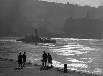 Táj, város - A pesti Duna-part
