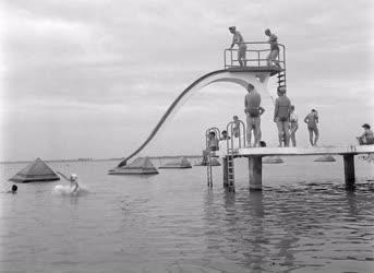 Beruházás - Az újjáépített Sziget strand